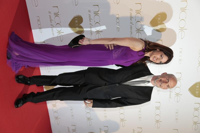 Gianmarco Tognazzi con la moglie