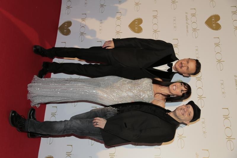 Carlo Cavallo con Max Pezzali e Debora Pelamatti